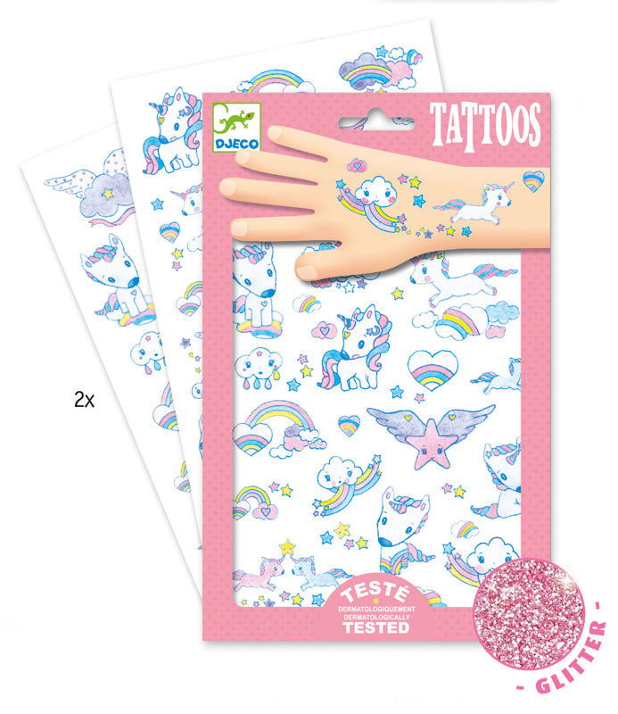 Djeco Unicorns Tattoos - STEAM Kids Brisbane