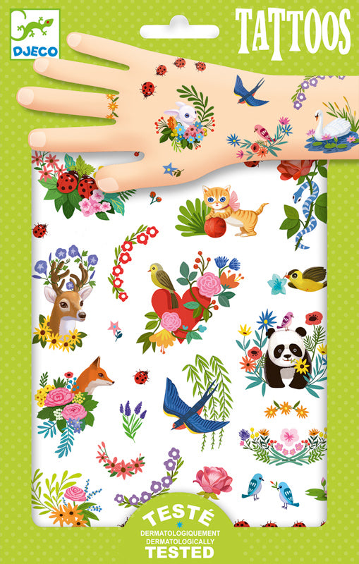 Djeco Happy Spring Tattoos - STEAM Kids