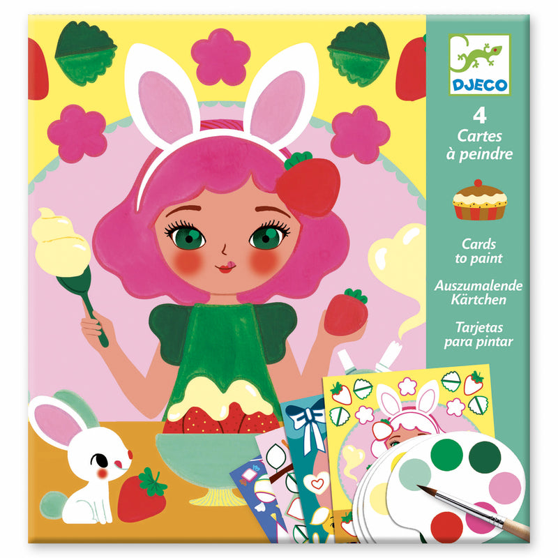 Djeco Cards to Paint | Snack Time | - STEAM Kids Brisbane