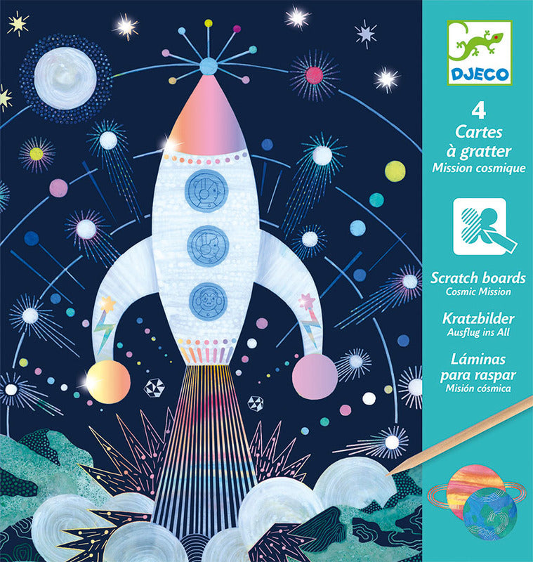 Djeco Scratch Cards Cosmic - STEAM Kids Brisbane