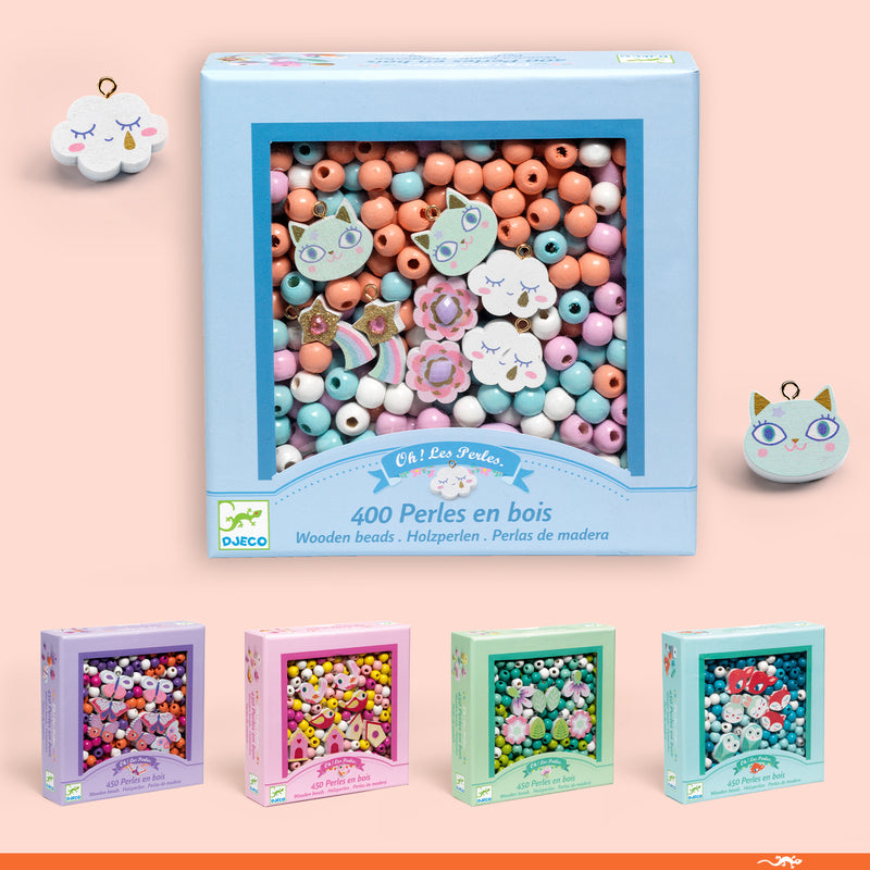 Djeco - Little Woodland Animals Wooden Beads - STEAM Kids Brisbane