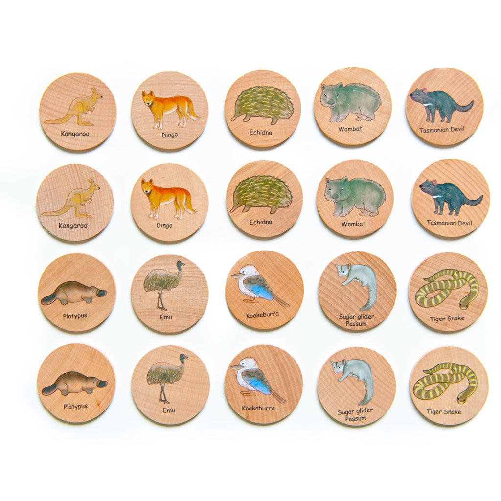 Freckled Frog -Australian Animal Matching Pairs (20 pieces) - STEAM Kids