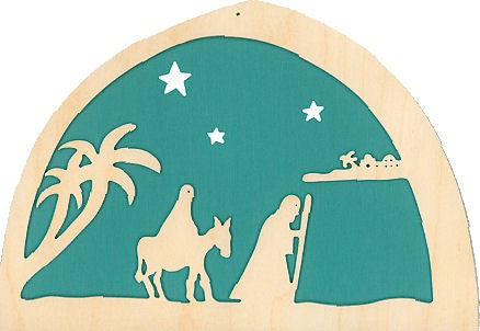 De Noest Silhouette Plate: Advent Teal - STEAM Kids Brisbane
