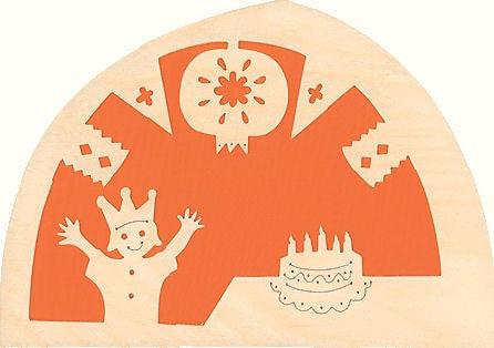 De Noest Silhouette Plate: Birthday Orange - STEAM Kids Brisbane