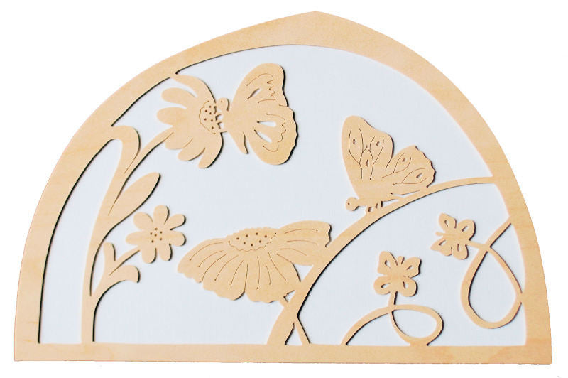 De Noest Silhouette Plate: White Butterfly - STEAM Kids Brisbane