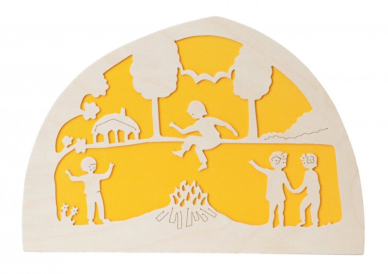De Noest Silhouette Plate: Campfire Yellow - STEAM Kids Brisbane