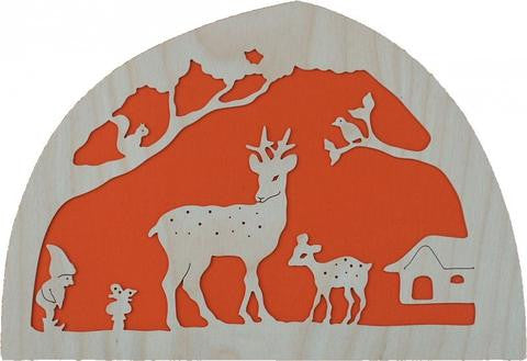 De Noest Silhouette Plate: Deer Orange - STEAM Kids Brisbane