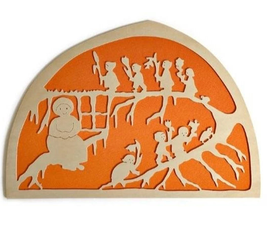 De Noest Silhouette Plate: Mother Earth Orange - STEAM Kids Brisbane