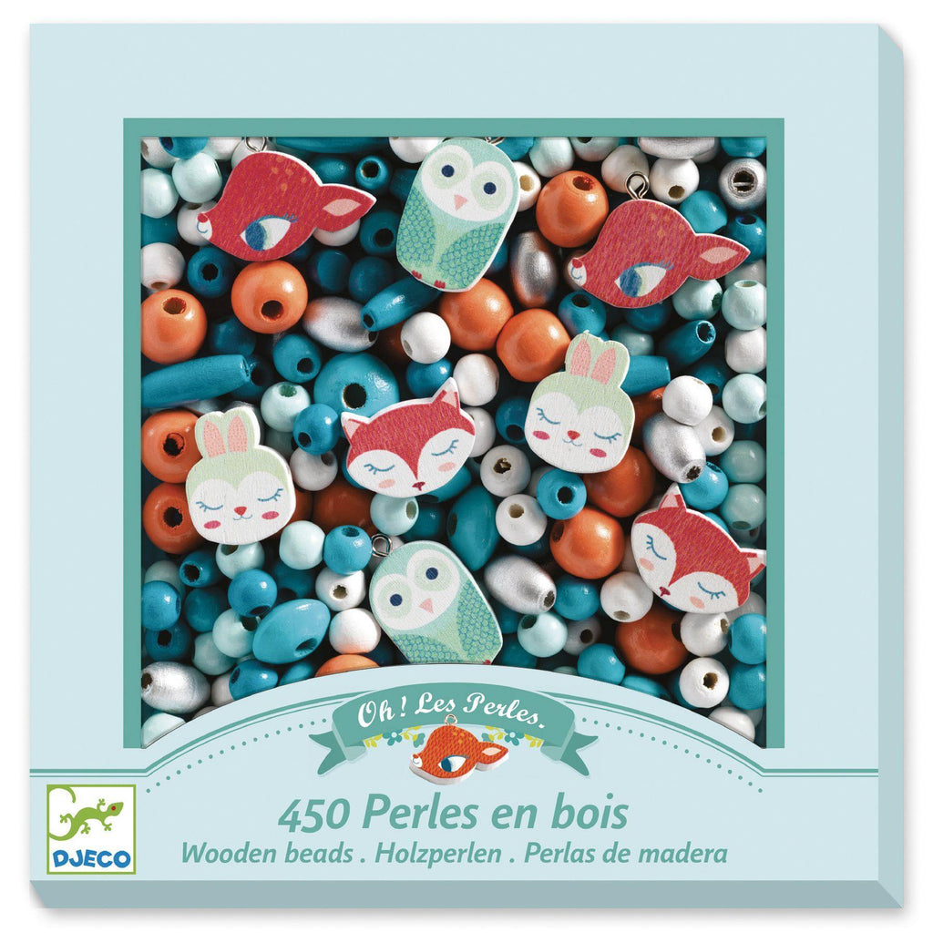 Djeco - Little Animals Wooden Beads - STEAM Kids