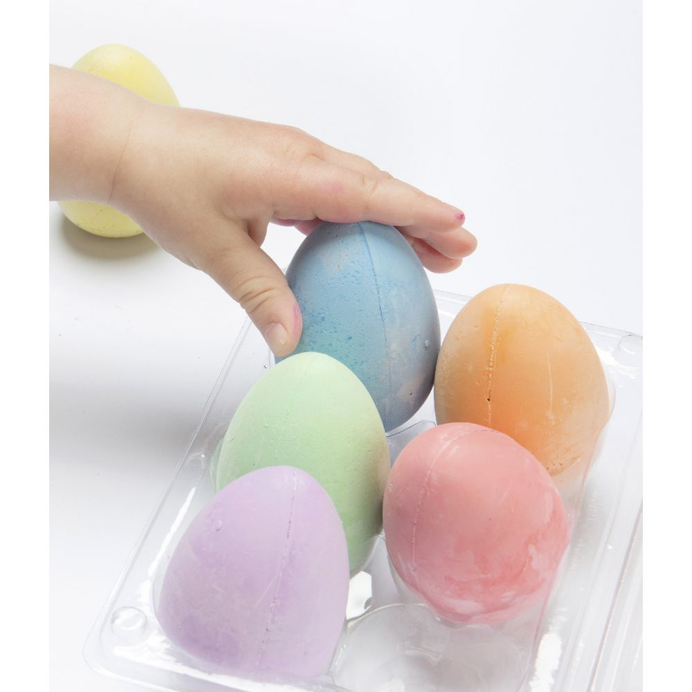 Easi-Grip Egg Chalk Carton of 6 - STEAM Kids Brisbane