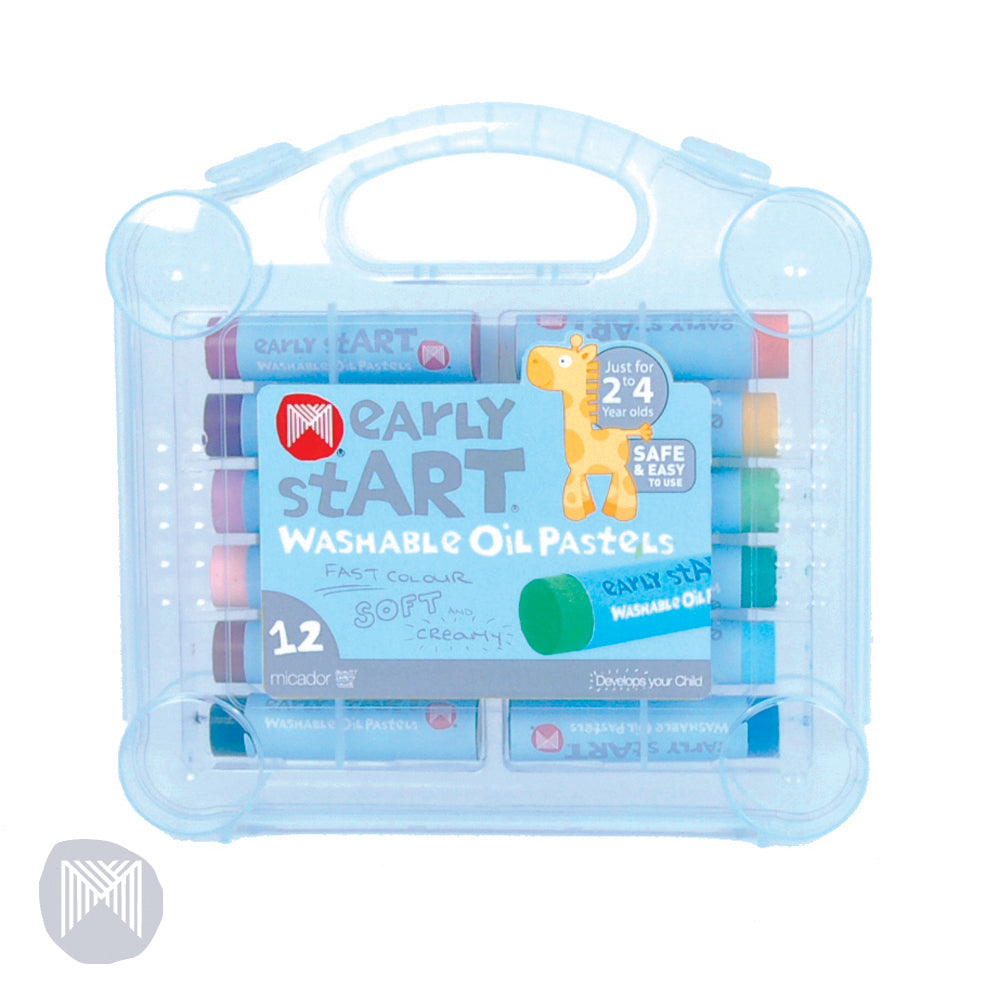 Micador early stART Washable Oil Pastels | Case of 12 | - STEAM Kids