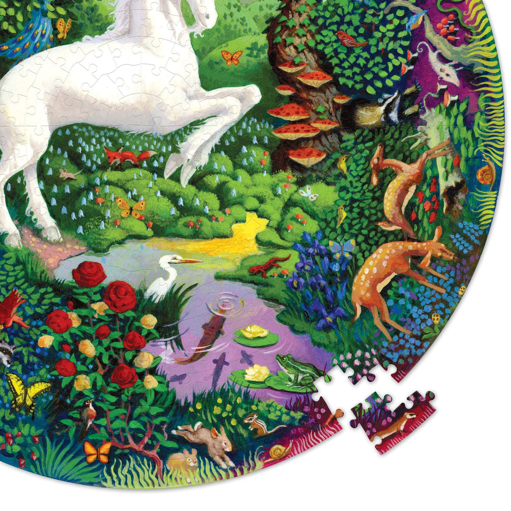 eeBoo Round Unicorn 500 Piece Puzzle - STEAM Kids Brisbane