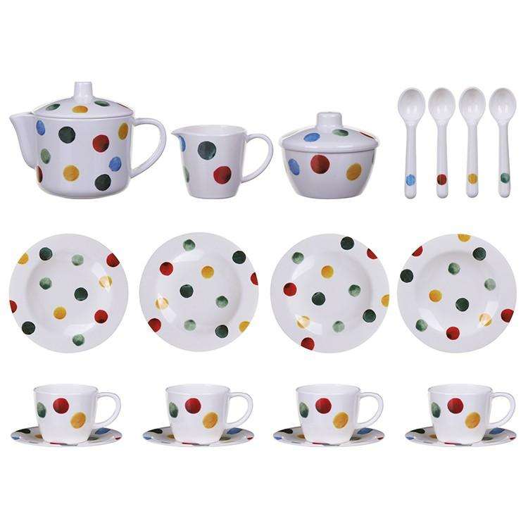 Emma Bridgewater Polka Dot House Melamine Teaset - STEAM Kids Brisbane