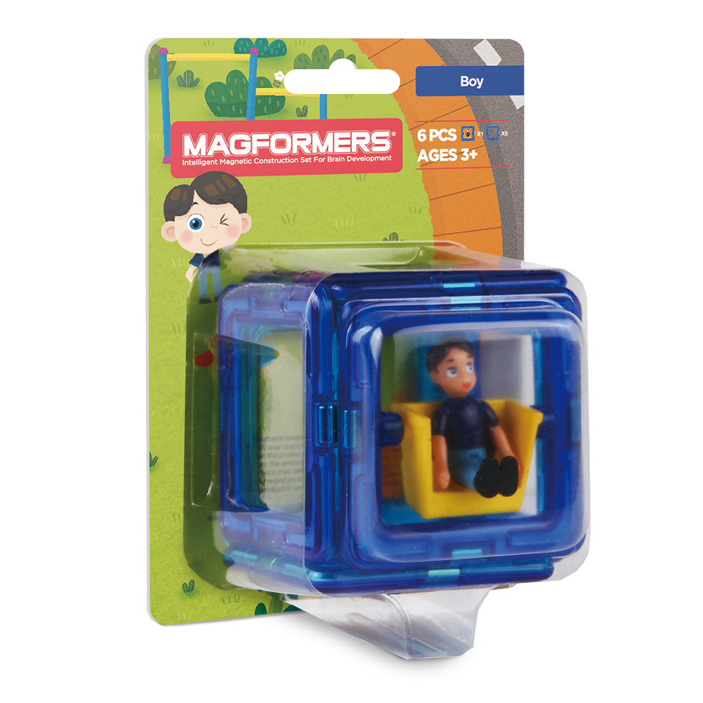 Magformers Figure Plus (Boy Square) - STEAM Kids Brisbane
