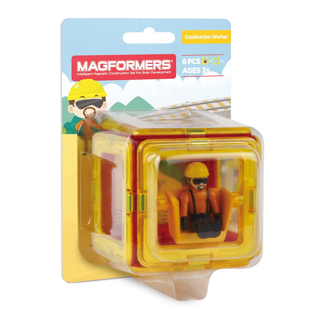 Magformers Figure Plus (Construction Person Square) - STEAM Kids Brisbane