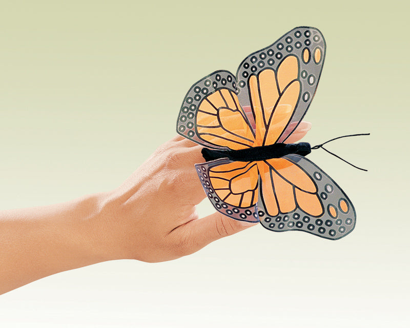 Mini Monarch Butterfly Finger Puppet by Folkmanis - STEAM Kids Brisbane