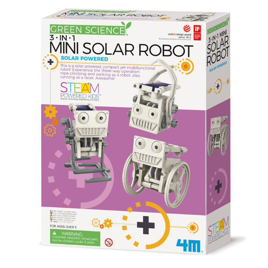 Green Science 3 in 1 Mini Solar Robot - STEAM Kids Brisbane