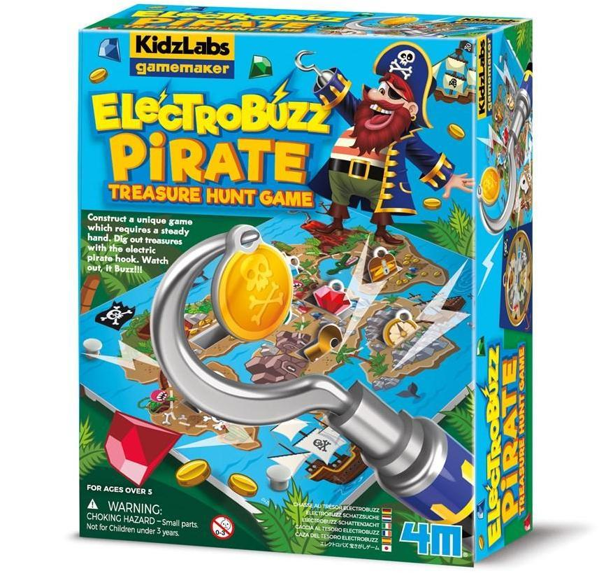 Gamemaker Electrobuzz Pirate Treasure Game | 4M Kids - STEAM Kids