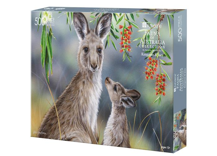 Fauna of Aus Kangaroo & Joey 500 Piece Puzzle | Ashdene Eco Puzzle - STEAM Kids Brisbane
