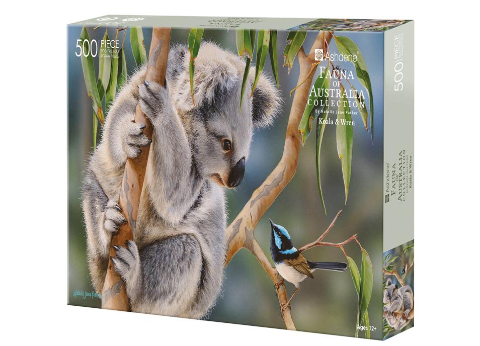 Fauna of Australia Koala & Wren 500 Piece Puzzle | Ashdene Eco Puzzle - STEAM Kids Brisbane
