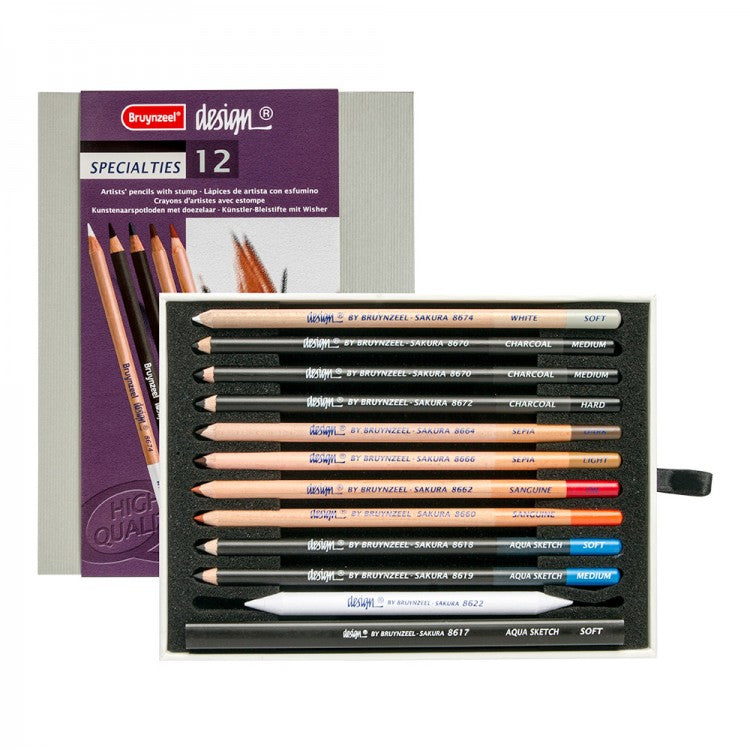 BRUYNZEEL Design Specialties Pencils 12pc Box - STEAM Kids Brisbane