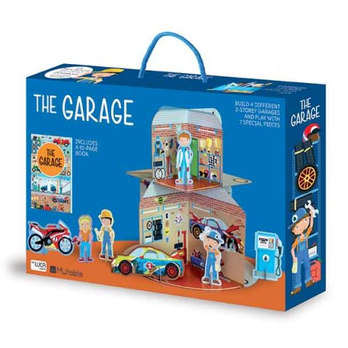Sassi 3D Puzzle & Book - The Garage - STEAM Kids Brisbane