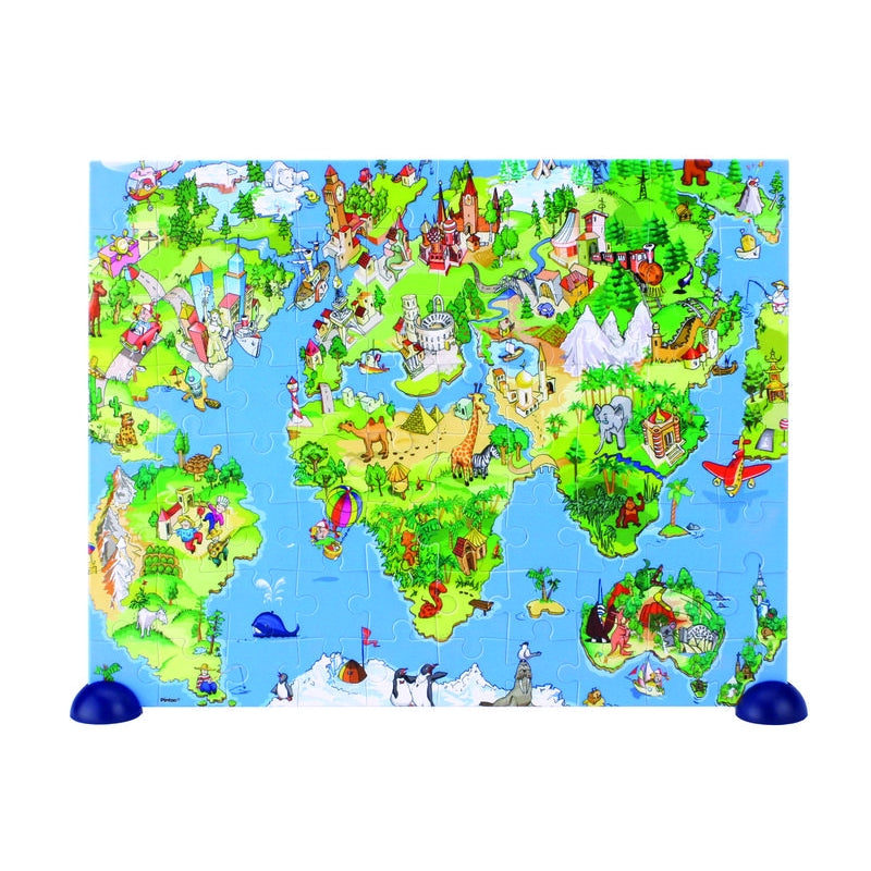 Heebie Jeebies Illustrated World Puzzle 80pc - STEAM Kids Brisbane
