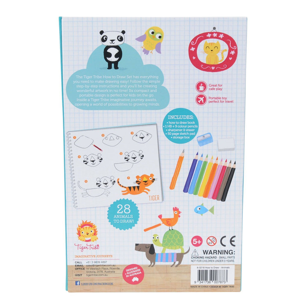 Tiger Tribe How to Draw Animals Kit - STEAM Kids