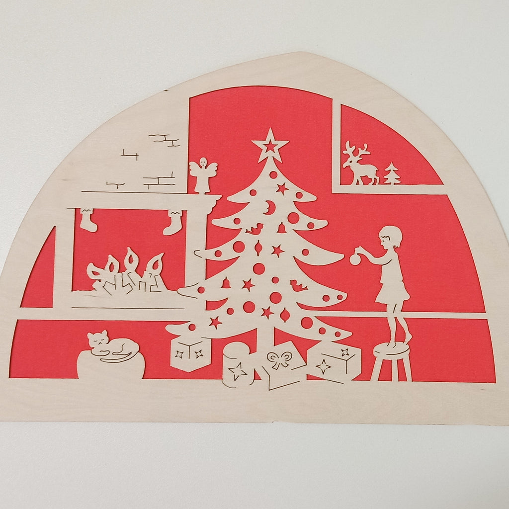 De Noest Silhouette Plate: Merry Christmas Red - STEAM Kids Brisbane