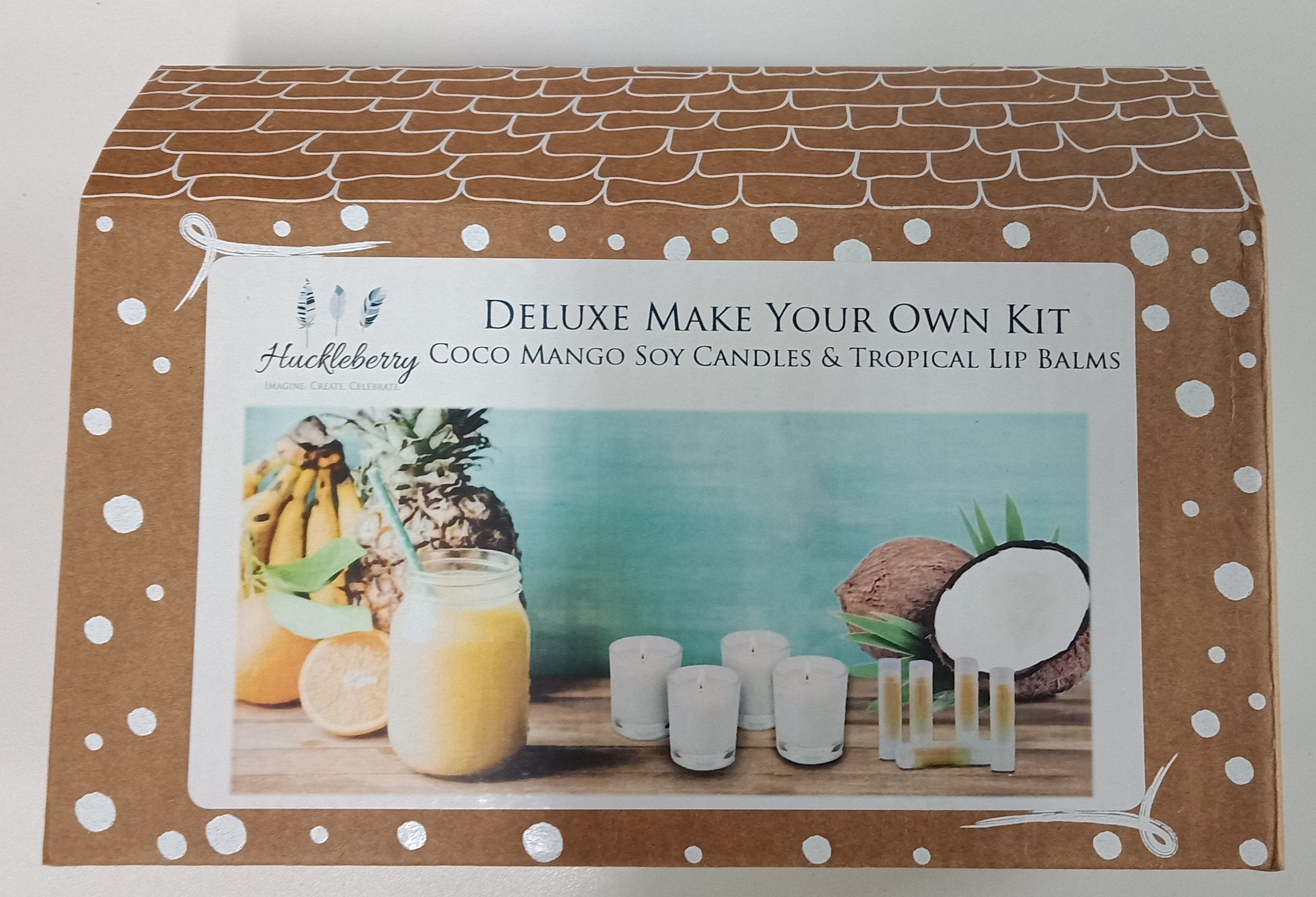 Huckleberry Deluxe: Coco Mango Soy Candles and Tropical Lip Balms