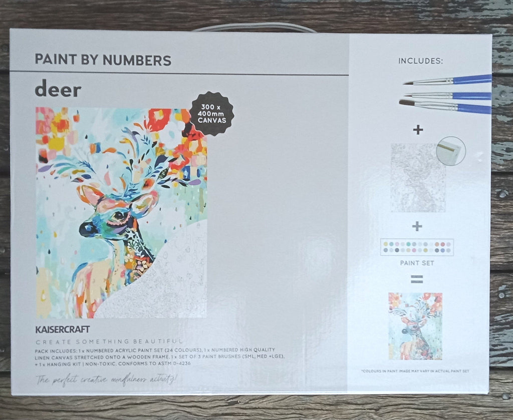 Kaisercraft Paint By Numbers Deer - STEAM Kids Brisbane