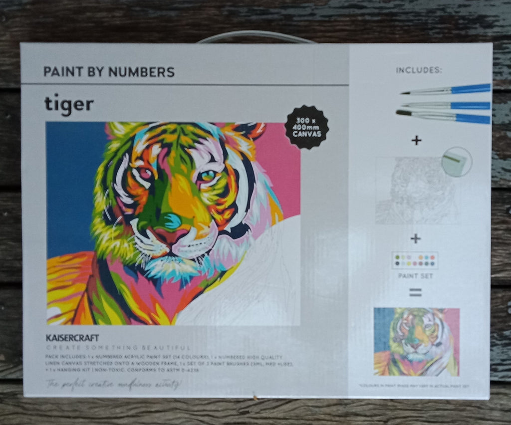 Kaisercraft Paint By Numbers Tiger - STEAM Kids Brisbane