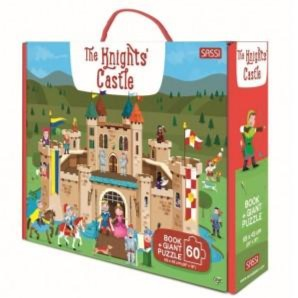 Sassi The Knight's Castle Book and Giant Puzzle, 60 pcs - STEAM Kids Brisbane