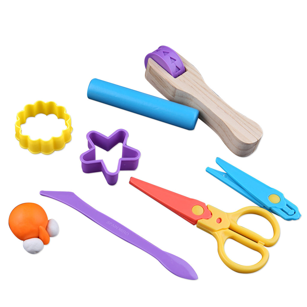 7 Piece Modeling Dough Tool Set - STEAM Kids Brisbane