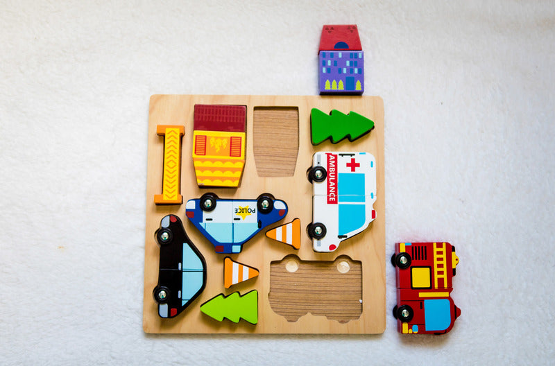 Vehicle Puzzle with Magnets - STEAM Kids Brisbane