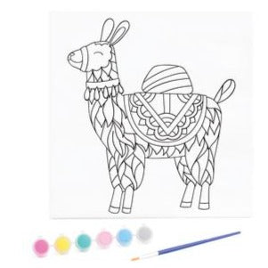 KaiserKids Canvas - Paint a Llama - STEAM Kids Brisbane