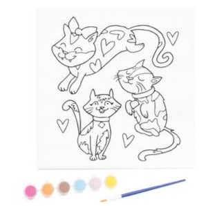 KaiserKids Canvas - Paint a Kitty - STEAM Kids Brisbane