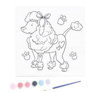 KaiserKids Canvas - Paint a Poodle - STEAM Kids Brisbane