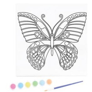 KaiserKids Canvas - Paint a Butterfly - STEAM Kids Brisbane