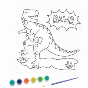 KaiserKids Canvas - Paint a Dinosaur - STEAM Kids Brisbane