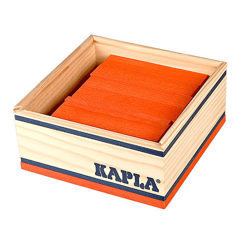 Kapla 40 Piece Colour Set: Orange - STEAM Kids Brisbane