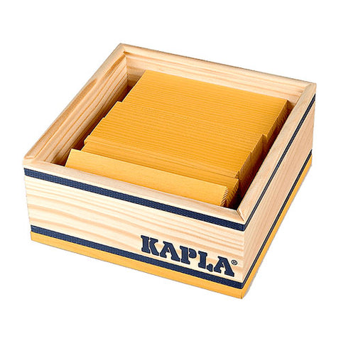 Kapla 40 Piece Colour Set: Yellow - STEAM Kids Brisbane