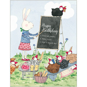 Ruby Red Shoes Happy Birthday card Blackboard - STEAM Kids