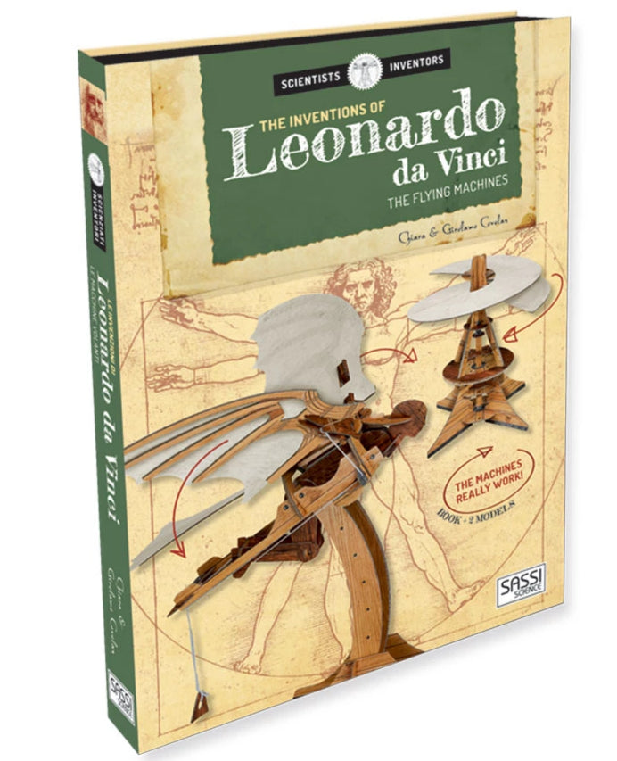 The Inventions of Leonardo Da Vinci. The Flying Machines Book  by Sassi - STEAM Kids Brisbane