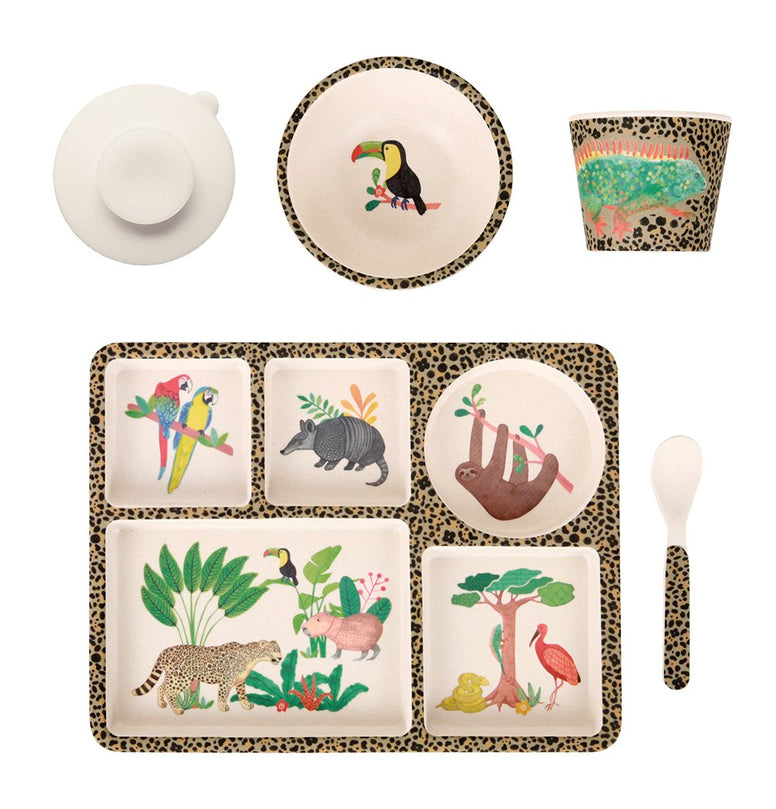 Love Mae Bamboo Divided Plate Set Amazon - STEAM Kids Brisbane