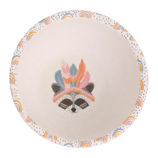 Love Mae Divided Plate Set Gypsy Girl Bamboo - STEAM Kids Brisbane
