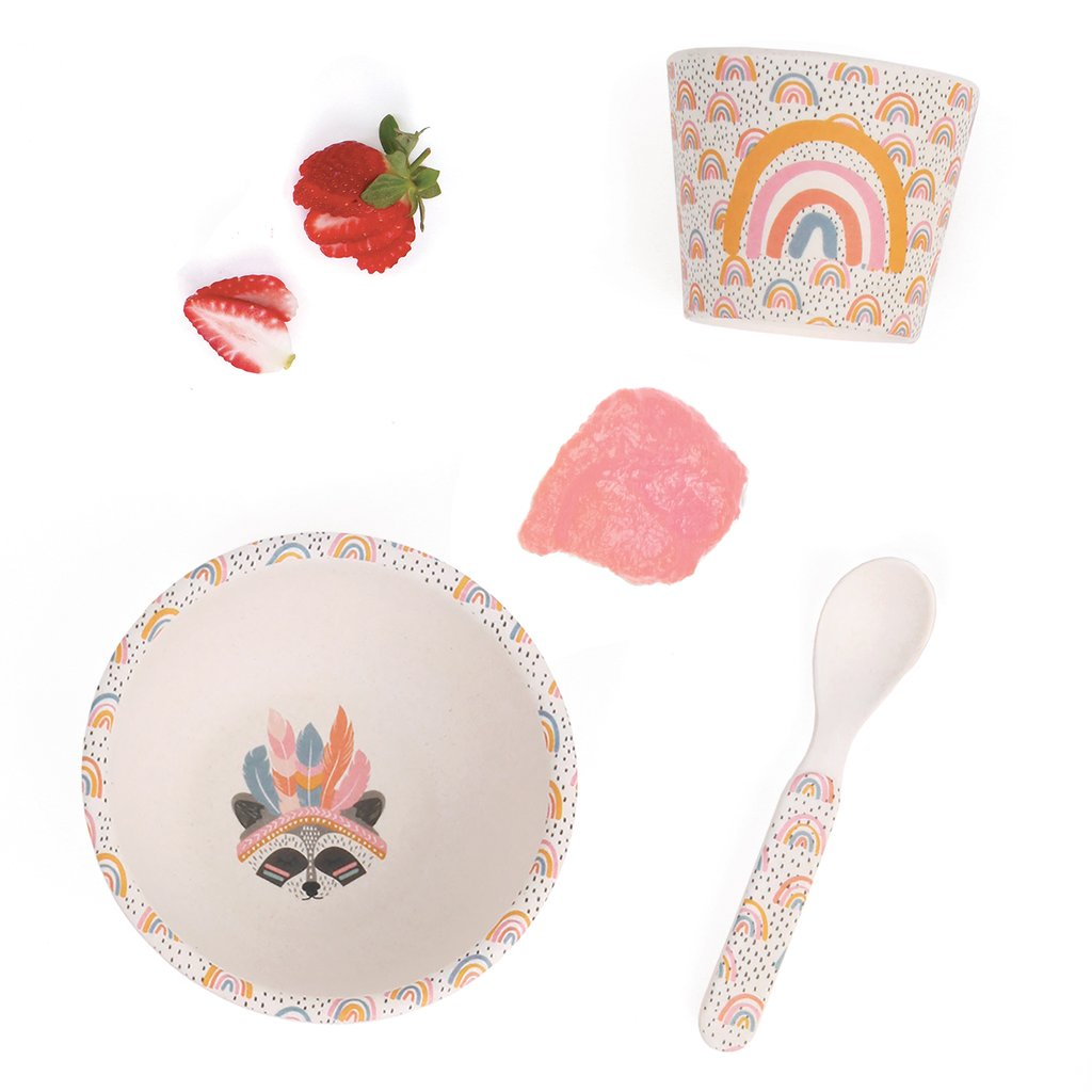 Love Mae Bamboo Baby Feeding Set | Gypsy Girl | - STEAM Kids Brisbane
