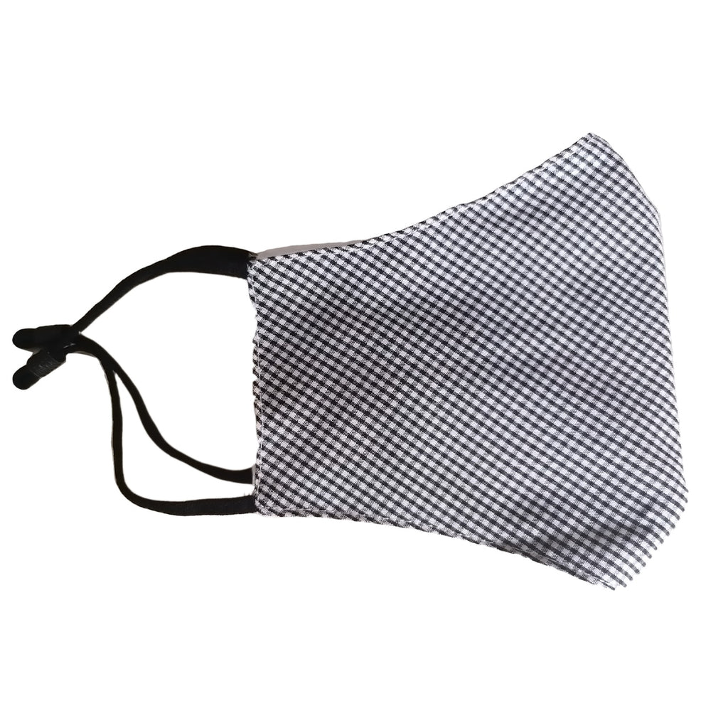 Washable Reusable Face Mask | 12 years to adult | Black Gingham Pattern - STEAM Kids Brisbane