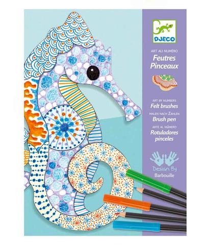 Djeco Motif Art Kit Patterning with Felt Brush and Pencil - STEAM Kids Brisbane