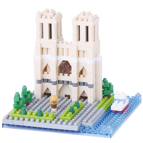 Notre Dame Cathedral Paris Nanoblock NBH093 - STEAM Kids Brisbane